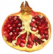 Řez plodem granátového jablka - kliknutím zobrazíte obrázek v plné velikosti
