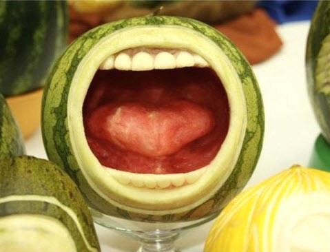 Vyřázáno z vodního melounu ...